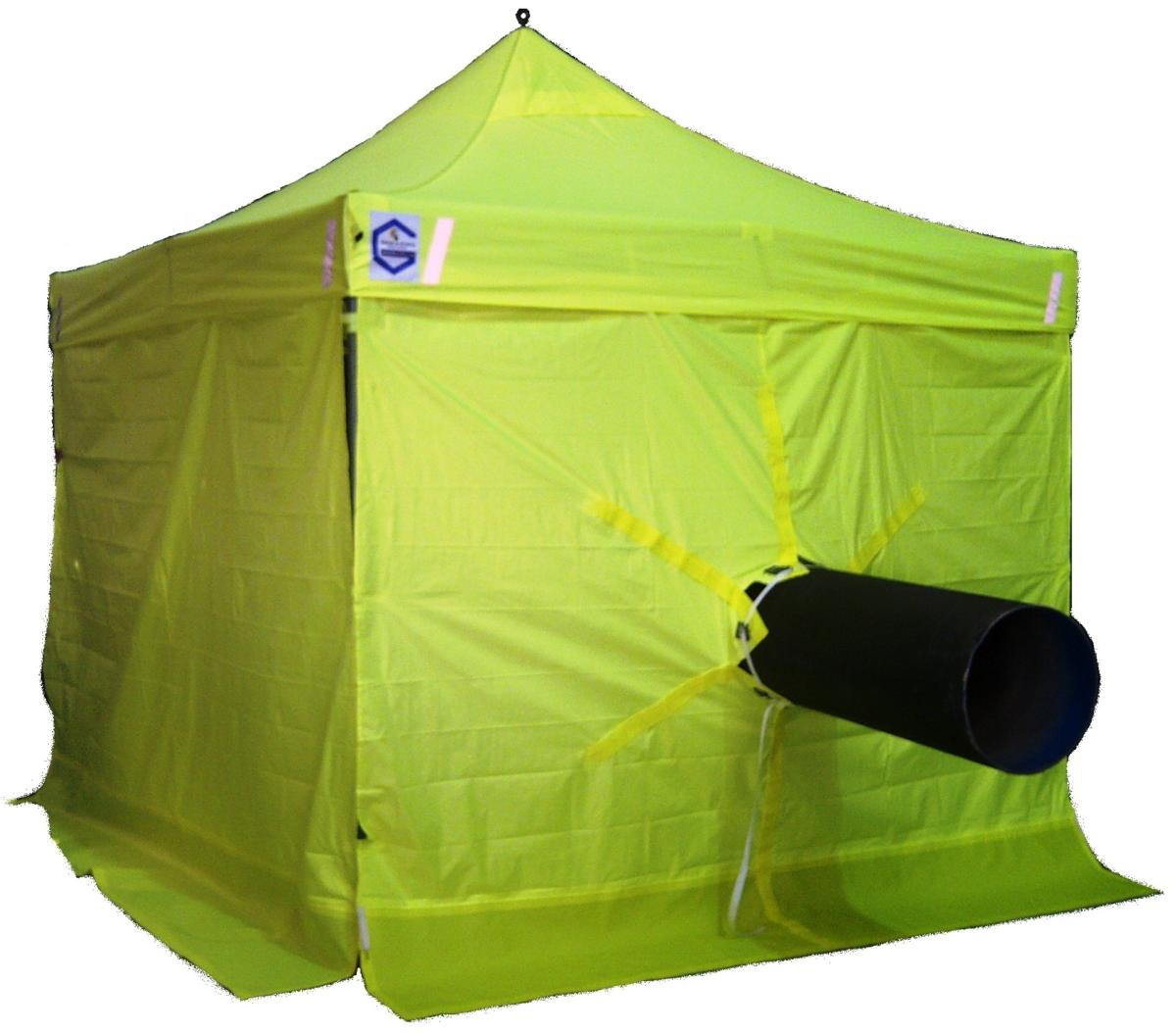 Grab-a-Shack welding tent with pipe passing through.  sc 1 st  Hex-Hut & Hex-Hut u2013 Grab-A-Shack